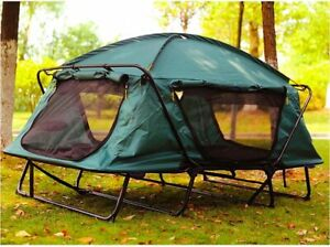 Camping 4x4 Tube Bed Mattress Cot Off Ground Tent Hunting Camouflage 1 2 Person