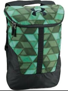 Under Armour Unisex Expandable Sackpack, Aegean Green Black One Size $42.97