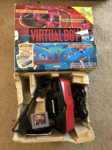 Nintendo Virtual Boy Console with Controller Stand and Mario Tennis Game
