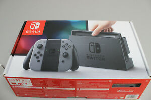 Nintendo Switch Console - Black with Grey Joy-Cons - Bundle