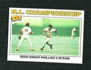 1977 TOPPS #277 NL CHAMPIONSHIP  NM-MT OR BETTER HI-GRADE SET BREAK Bb721