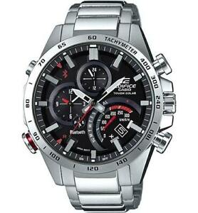 EDIFICE Casio Smartphone Link Stainless Steel Solar Men's Watch EQB501XD-1A