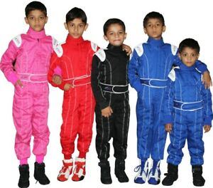Child - Karting Go Kart Race Rally suit Poly cotton One Piece Overall