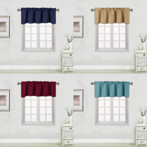 1 PANEL SOLID 100% THERMAL  BLACKOUT VALANCE WINDOW CURTAIN18