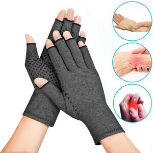 Copper Compression Gloves Medical Arthritis Pain Relief Hand Fits Support Brace