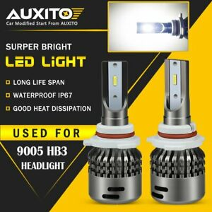 AUXITO 9005 HB3 LED High Beam Headlight Kit Bulb Super Bright 6500K 18000LM C7 A