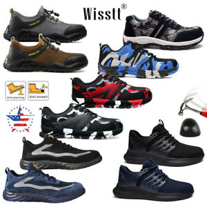 Men's Camouflage Work Safety Shoes Steel Toe Boots Indestructible Sneakers ESD