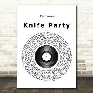 Knife Party Vinyl Record Song Lyric Music Gift Present Poster Print