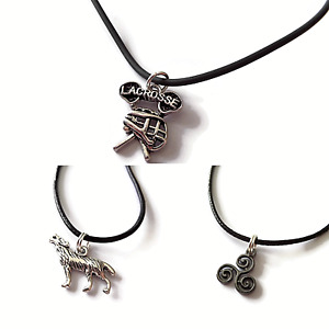 Teen wolf necklace lacrosse necklace triskelion necklace tv jewellery gift