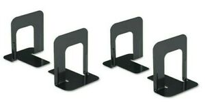 Bookends Black Premium Metal 5 inch High 2 Pair 4 bookends