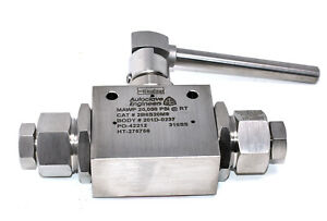 Parker 2B6S20M9 Autoclave Engineers 2-Way Ball Valve 12