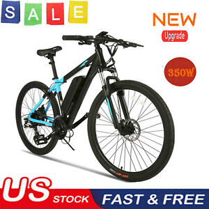 ANCHEER 350W 27.5in Foldable E-Bike Electric Mountain City Bicycle 10.4A Battery