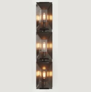 New Restoration Hardware Replica Harlow Wall Sconce Bronze Crystal Vanity Light