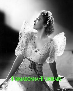 IDA LUPINO 8X10 Lab Photo 1930s Shimmering Glamour Gown Portrait, Angelic Still