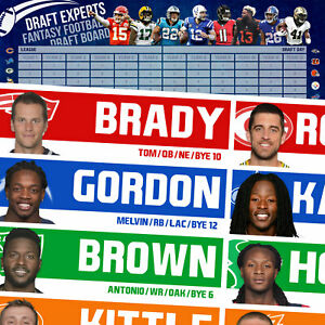 HUGE Fantasy Football Draft Board 2019 / Fantasy Football Draft Kit / Large Kit
