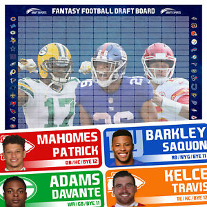 Fantasy Football Draft Board 2019 / Fantasy Football Draft Kit / ROLLED IN TUBE