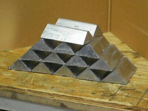 42 lbs Lead ingots for bullet casting, sinkers. 6 Brinell Hardness.