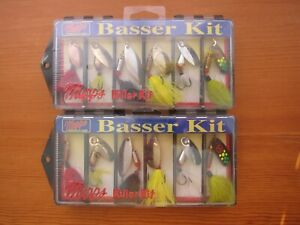 (2) Mepps Basser Kit Fishing Lures - Aglia Assortment # 3 Dressed - Free Ship