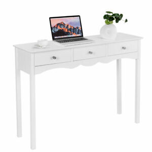 Console Table Hall table Side Table Desk Accent Table 3 Drawers Entryway White