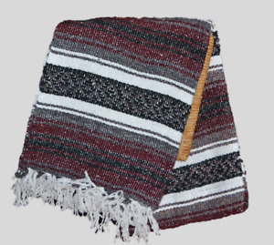 MEXICAN Falsa Blanket NEW Size 75 * 55 Color burgundy