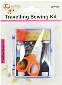 Travelling Sewing Kit including thread buttons needles safety and dress pins $7.99
