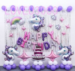 Unicorn Birthday party Supplies Unicorn Balloons Set Unicorn party Decorations