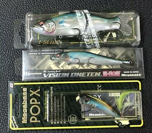 """😳 Megabass Japan Only (SP-C) """"HAMABLUE"""" ~ set of 3 LURES ~ Free Shipping"""