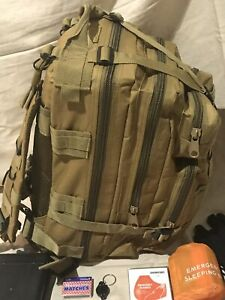 Emergency Survival Back Pack Essential Bug out Bag Zombie Hurricane Hiking