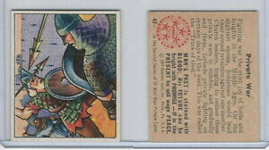 1950 Bowman, Wild Man, #42 Private War, Middle Ages