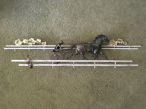 Rare VTG Antique Signed C Jere Horse Harness Racing Wall Sculpture