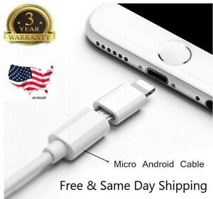 For Android Micro USB to Lightning Adapter Converter For iPhone 6s 7 8 XR XS Max