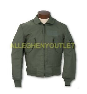US Military USAF CWU-45P Cold Weather Flyers Flight Jacket Coat Sage Green LN