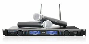 Technical Pro WM1201 Professional 2 Channel UHF Dual Wireless Microphone System $144.95