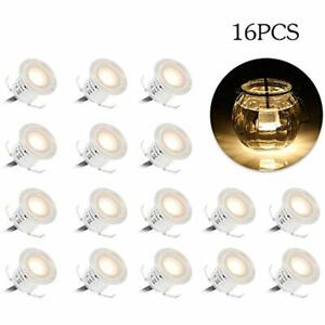 16 Pack Recessed LED Deck Light Kit High Bright In Ground Outdoor Landscape For