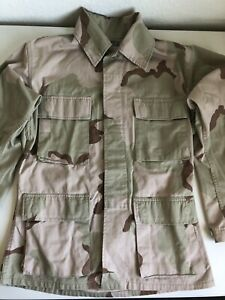 US ARMY Shirt Jacket Desert Camouflage Combat Size X-Small Short 63-67 In Height