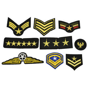 18 Pcs Military Army Patches Soldier Embroidery Sew on Sticker Applique Craft US
