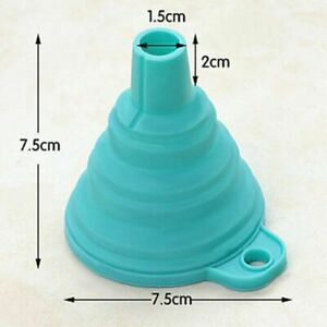Silicone Gel Practical Collapsible Foldable Funnel Hopper Kitchen Baking Tools