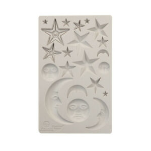 STARS AND MOONS Finnabair Prima Decor Moulds Molds Food Safe Resin 5x8