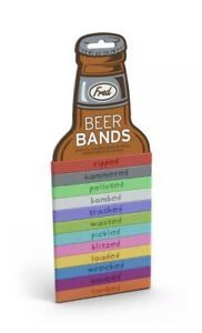 NEW Fred Beer Bands Beer Drink Markers Set of 12 Can Bottle Alcohol Bands PARTY