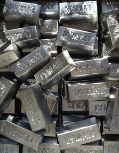 Lot of 12 Pound Soft Lead Lyman Ingots for Fishing Sinkers or Bullet Casting