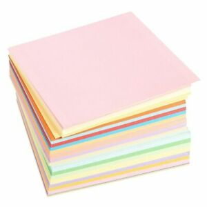 500PCS Origami Paper Double Sided 6quot; x 6quot; Square Folding Paper 20 Colors Crafts