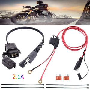 Waterproof SAE to USB Charger Adapter for Motorcycle Cable Phone GPS Tablets $11.95