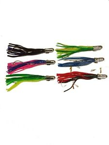Super 6 Pack of Rigged Spinner Head Fishing Lures BOGO!  BUY 1 PACK GET 1 FREE!