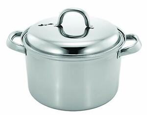 Stainless Steel Kitchen Stove Top With Steamer For Rice,Vegetables, 4 Quarts