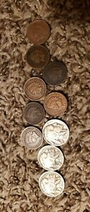 Very Cool Antique Indian Head Pennies and Buffalo Nickels Lot!!