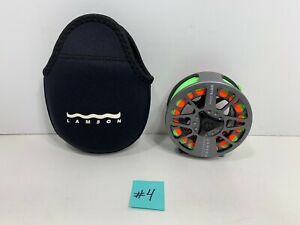 LAMSON Litespeed LS 3.5 Hard Alox Fly Reel with Line and Case, NEW!