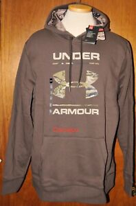 Men's Under Armour Rival Ridge Reaper Camo Brown Hoodie Choose Your Size $44.98
