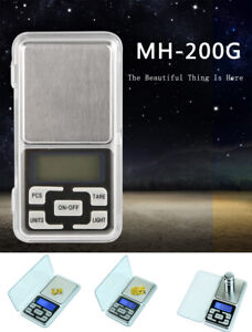 Portable 200g x 0.01g Mini LCD Digital Scale Jewelry Pocket Balance Weight Gram $7.88