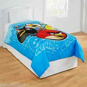 Angry Birds Plush Accents Microfiber Twin/Full Comforter 72x86 in