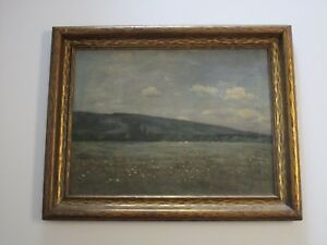 ANTIQUE IMPRESSIONISM LANDSCAPE PAINTING INNIS? MASTERFUL ROLLING HILL VIEW COWS